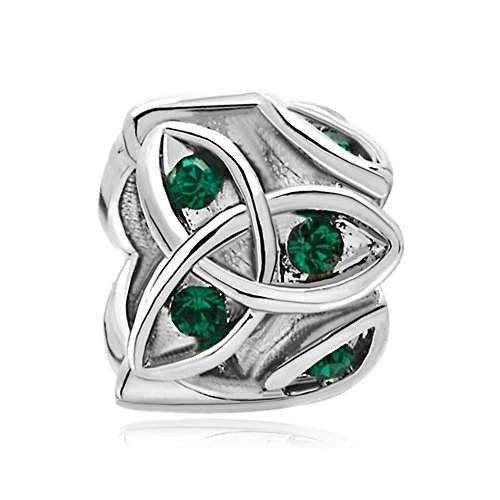 Christmas Gifts Celtic Claddagh Irish Charm May Birthstone Beads Fit Pandora Jewelry Bracelets (Pandora Amazon compare prices)
