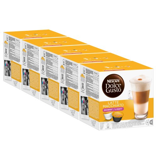 Get Nescafé Dolce Gusto Skinny Latte Macchiato, Pack of 5, 5 x 16 Capsules (40 Servings) from Nestlé