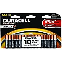 Duracell Coppertop Alkaline AAA Batteries 16-Pack, MN2400B16