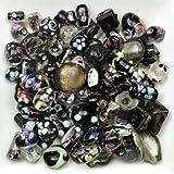 Mélange perles de verre 6 à 28mm noir