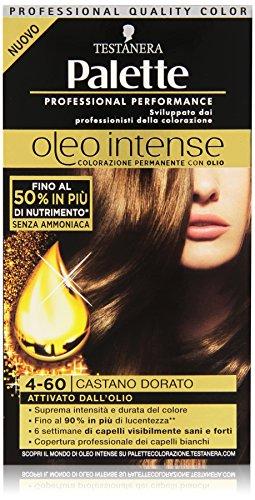 Testanera - Palette, Colorazione Permanente Con Oli, 4-60 Castano Dorato