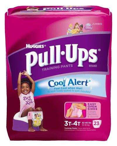 Huggies Pull-Ups Original Training Pants Cool Alert - Girls - 3T-4T - 23 Ct front-1000900