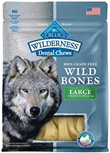 Blue Wilderness Grain Free Large Wild Bones Dog Treats 10oz