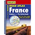 Philip's Road Atlas France, Belgium and The Netherlands 2ED: Spiral A5