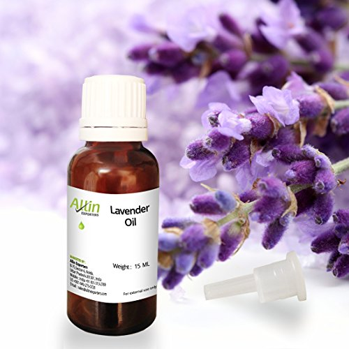 Allin Exporters Lavender Essential Oil - 15 ML - 100% Pure, Natural and Therapeutic Grade - Exceptional Choice for Aromatherapy, Massage and Aroma Diffusers - Suitable for All Skin Types - Use for Hair Care and Skin Care