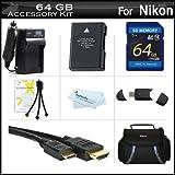 64GB Accessories Kit For Nikon Df,