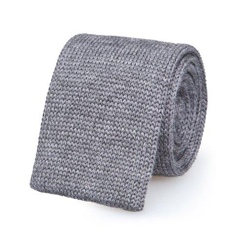 Blick Herren Krawatten Schmale Gewebte Krawatte Grau