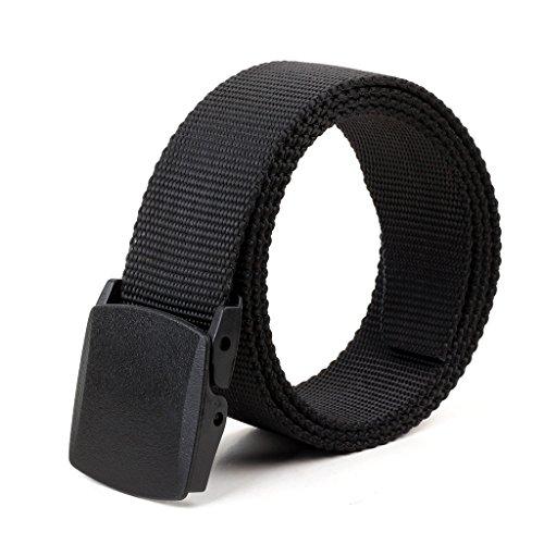 ALAIX nylon 4.0CM larga cintura regolabile con doppio No Metallo Plastica Fibbie