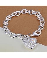 925 Sytle Bracelet Femme classique Bracelet Coeur