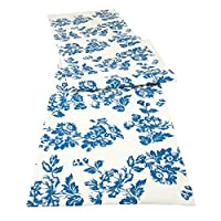 Tuscany Blue Floral Table Runner