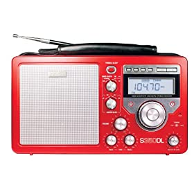 Eton S350DLS Deluxe AM/FM Shortwave Radio (Red)