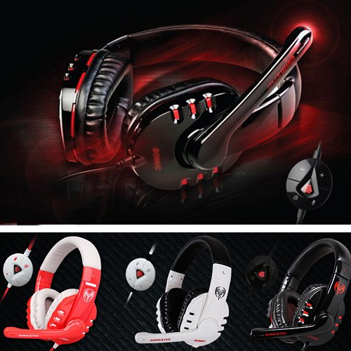 Somic G927 7.1 Surround Sound Gaming Stereo Headset Headphone With Microphone - Black/White/Red