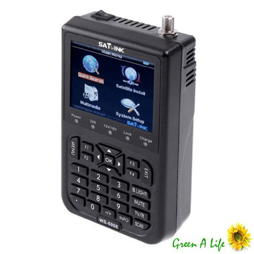 SATLINK WS6906 Détecteur Localisateur Signal Satellite SATFINDER DVB-S FTA Data + pile 3000mAh