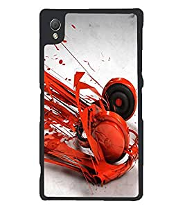 PRINTSWAG RED HEADPHONES Designer Back Cover Case for SONY XPERIA Z3