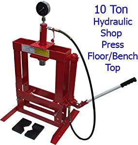 10 ton hydraulic shop press floor bench top w pressure gauge free shipping diy Hydraulic bench press