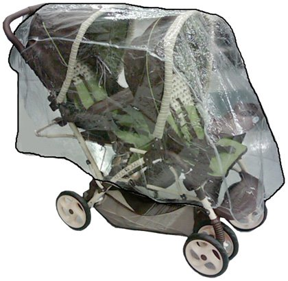 Sashas Rain and Wind Cover for Graco DuoGlider Tandem Stroller