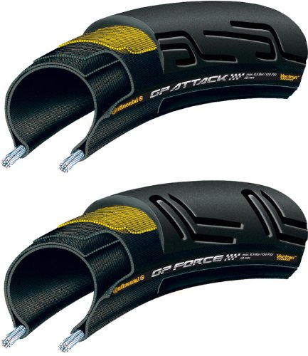 continental-copertone-bicicletta-set-grand-prix-attack-ii-force-ii-nero-schwarz-700-x-22-24-c