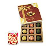 Valentine Chocholik Luxury Chocolates - Ravishing Combo Treat Of Yummy Chocolates With Love Mug