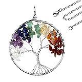 JOVIVI-SchmuckDamen-Herren-Reiki-Energietherapie-7-Stein-Chakra-Armband-Baum-des-Lebens-Anhnger-Lebensbaum-Halskette