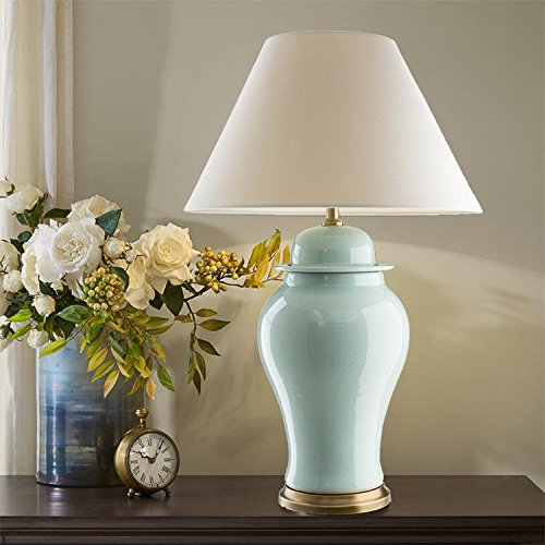 nhd-american-ceramic-table-lamp-decorative-lighting-crack-general-tank-upscale-hotel-bed-living-room