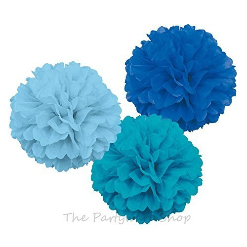 ocean-mix-puff-decorations-royal-blue-baby-blue-and-caribbean-teal