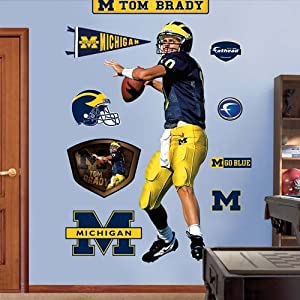 NCAA Michigan Wolverines Tom Brady Wall Graphic by Fathead