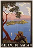 LAKE GARDA Italy Travel Poster by Severino Trematore 1928 A4 Matte Finish (210 x 297mm)
