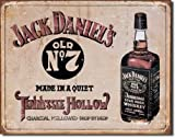 Large JACK DANIELS WHISKEY Old No 7 Vintage Retro Metal Tin Plaque Sign 1419