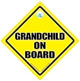 Grandchild on Board Grandchild On Board Car Sign Traditional Yellow Baby on Board Baby on Board Sign Bumper Sticker Decal Car Sign Baby Car Sign