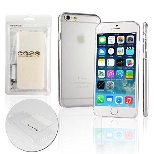 "SAVFY® Coque iPhone 6 (4.7"") - Ultra-Fine Transparent Housse Etui RIGIDE Dur Protection arrière Ultra Slim Case anti-choc + STYLET + FILM D'ECRAN OFFERTS!"