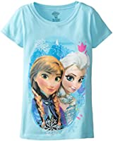 Disney Frozen Little Girls' Colorful Sisters Tee
