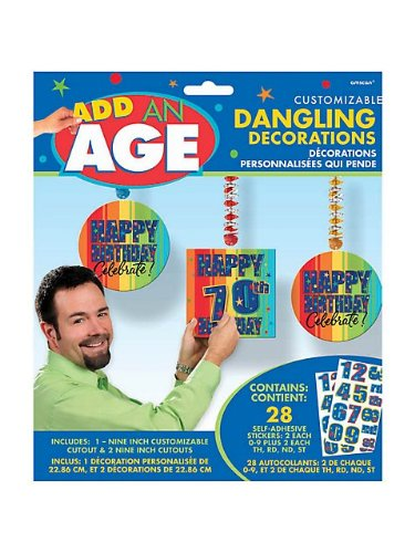 Add An Age Danglers 3 per pack