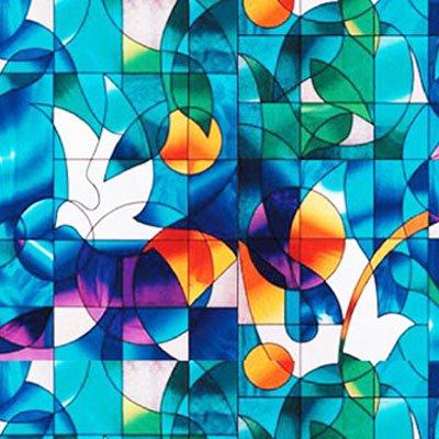 Dove Stained Glass Decorative Window Film 36 Wide X 28
