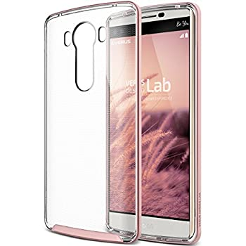 02. Verus [Crystal Bumper][Rose Gold] - [Clear][Drop Protection][Heavy Duty][Minimalistic][Slim Fit] - For LG V10 Devices