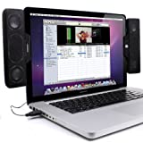 GOgroove SideStream Portable Clip-On Computer Speakers with Powerful Built  ....