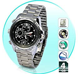 ZVision Mini HD Steel Wrist Watch with Spy Camera (ZV-WW4GBSilver-720)
