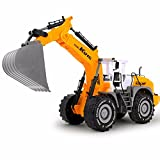 Blomiky 1:22 Oversized Children's Push Friction Powered Excavator Digging Construction Truck Toys Inertia Engineering Car model Pull Digger (Color: Digger Truck)