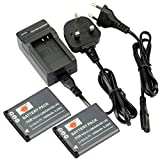 DSTE 2pcs D-LI88 Rechargeable Li-ion Battery + Charger DC89U for Pentax Optio H90, P70, P80, W90, WS80 Digatal Camera