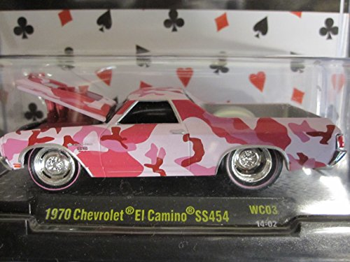 1970 Chevrolet El Camino SS454 (pink/red camo) M2 Machines Wild Cards premium Edition - 1