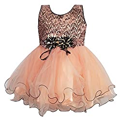 Chokree Peach Color Party Wear Dress/Frock for girl