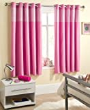 Pink Gingham Baby Bedroom Curtains Blackout Thermal 46 x 54 Thermal Backed Eyelet Top Heading Readymade Blockout Curtain