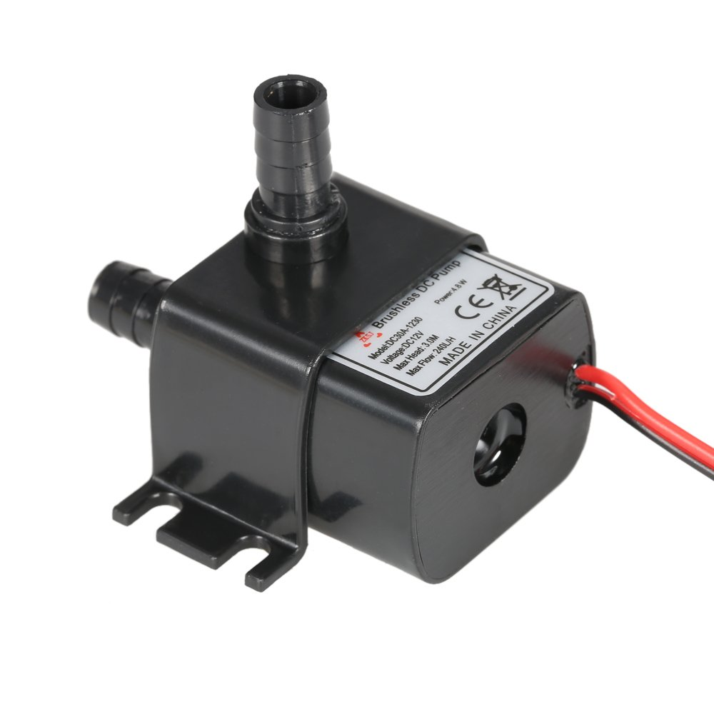 Anself Ultra-quiet Mini 4.8W DC12V Micro Brushless Water Oil Pump Submersible