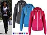 Oromiss Ladies Womens NEW Celebrity Inspired Hoodies Zip Up Jersey Style Hood Tops Hoodies