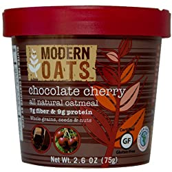 Modern Oats Chocolate Cherry Oatmeal, 2.6 Ounce (Pack of 6)