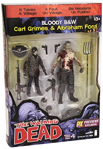 The Walking Dead Comic Series 4 Carl Grimes and Abraham Ford Action Figure 2-Pack - Previews Exclusive (Walking Dead Figures Series 2 compare prices)
