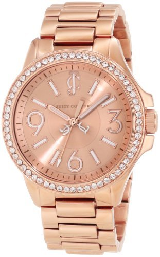 Juicy Couture Women's 1900960 Jetsetter Rose Gold Bracelet Watch juicy couture jc 1900960 juicy couture
