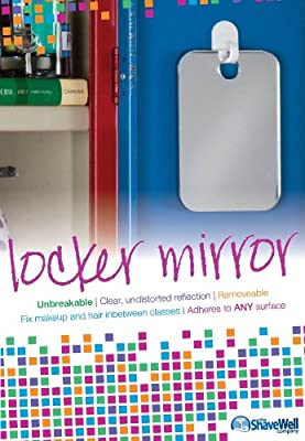 Unbreakable Locker Mirror - From the #1 Line of Unbreakable Mirrors on Amazon.com - The Shave Well Company