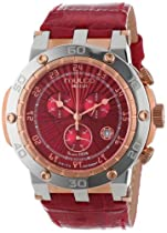 MULCO Unisex MW1-29851-161 Red Crocodile Leather and Stainless Steel Watch