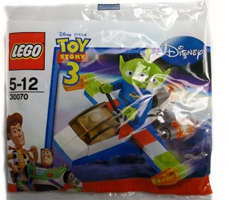 Lego - 30070 - Disney Pixar Toy Story 3 - Alien and Space Ship (34pcs) Bagged - 1