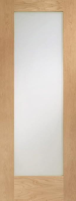 Internal Oak Pattern 10 Door with Obscure Glass